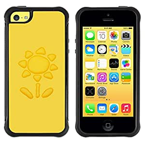 Suave TPU GEL Carcasa Funda Silicona Blando Estuche Caso de protección (para) Apple Iphone 5C / CECELL Phone case / / Sun Yellow Petal Drawing /
