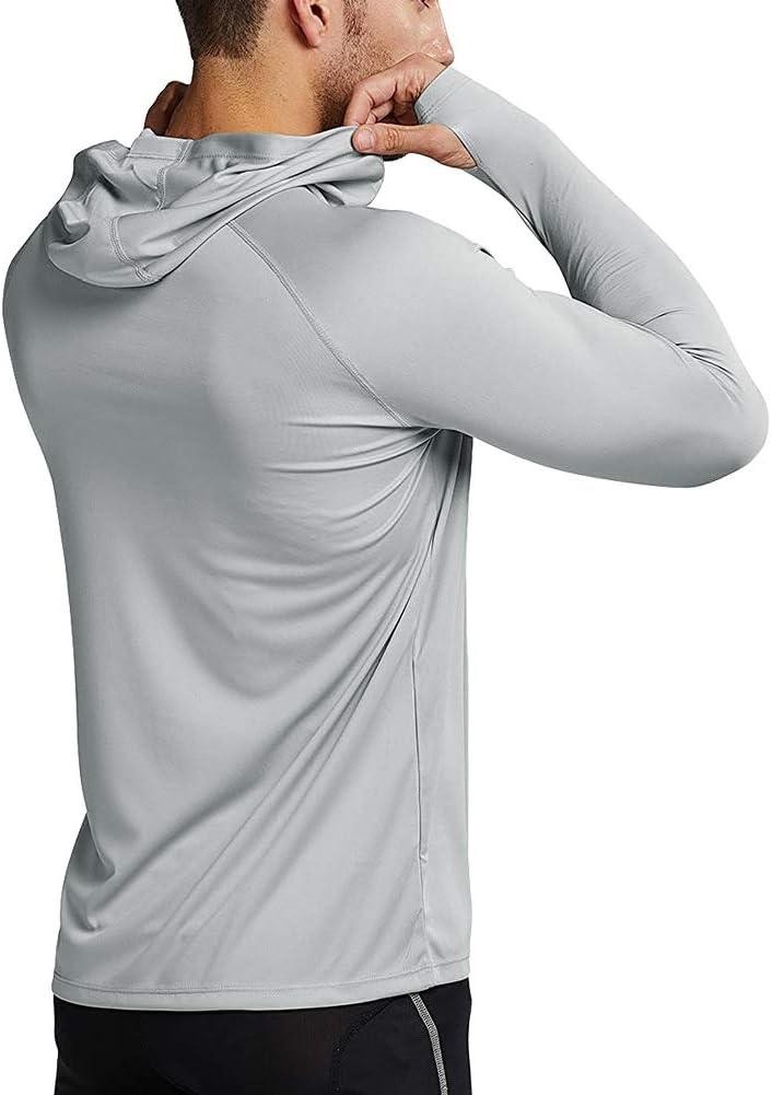 Camisa Manga Larga UPF 50 Camisetas Deportivas Proteccion Solar para Buceo Vela Running MEETYOO Camiseta Protecci/ón UV
