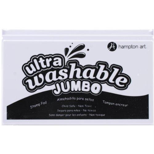 Hampton Art SP2102 Black Jumbo Washable Ink Pad (Washable Pad Ink Jumbo)