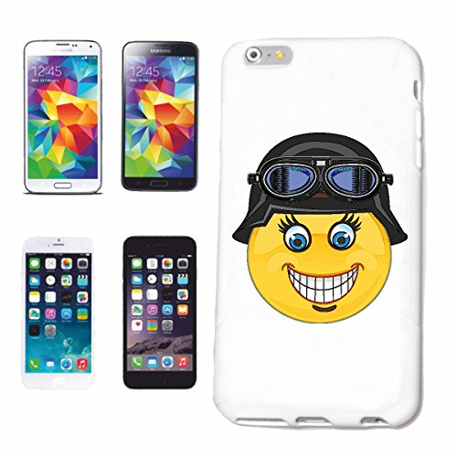 "cas de téléphone iPhone 6S ""SMILEY ALS ROCKER BIKER Motorradfahrer ""sourire EMOTICON sa SMILEYS SMILIES ANDROID IPHONE EMOTICONS IOS APP"" Hard Case Cover Téléphone Covers Smart Cover pour Apple iPhone"
