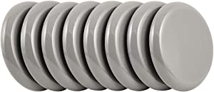 "Super Sliders 4744495N Reusable Slider for Medium Sized Furniture on Carpet 2-1/2 Inch Gray, 8 Pack, 2-1/2"", 8 Count"