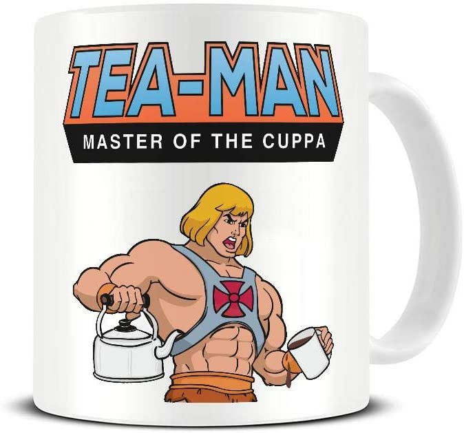 * NEW * Tea-Man - Master of the Cuppa Mug. Funny 80s He-Man Parody Gift