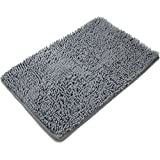 [Updated] VDOMUS Non-slip Microfiber Shag Bathroom Rugs Bath Mats Shower Rug - Dark Gray 20 x 32 inches