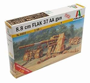 Italeri 6602S Flak 37 AA Gun - Maqueta de cañón de asalto (escala 1:48, 8,8 cm)
