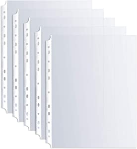 Ibzo 100 Clear Binder Sheet Protectors - 8.5 x 11 Inch Plastic Sleeves for Binders - Top Loading Transparent Paper, Business Document Covers for Storage - Acid Safe and Non-PVC - Non-Stick, Non-Glare