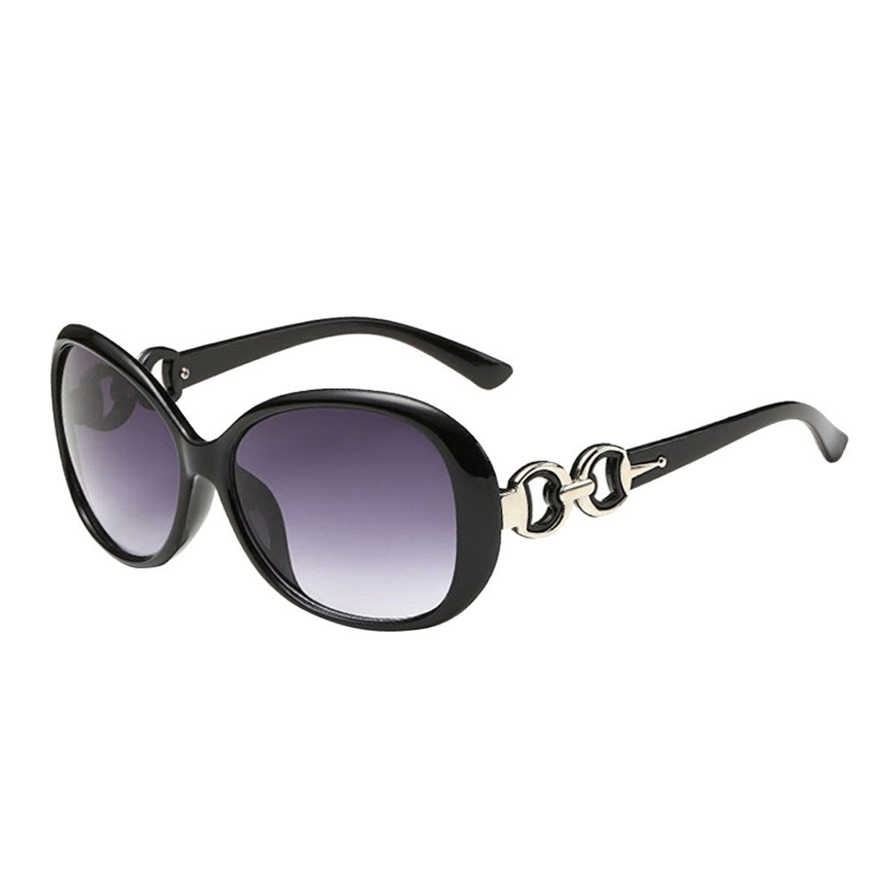 Women Men Double Ring Decoration Shades Sunglasses TANGSen Vintage Fashion Integrated Outdoor UV Glasses(A,One Size)