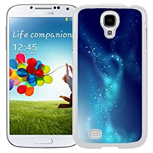 Beautiful Unique Designed Samsung Galaxy S4 I9500 i337 M919 i545 r970 l720 Phone Case With Playful Blue Lights_White Phone Case