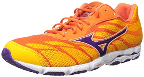 Mizuno Women's Wave Hitogami 3 Running Shoe, Citrus/Pansy, 6 B US ()