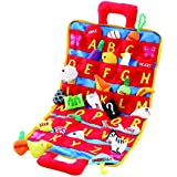 ABC Carry Bag Set by Animal House | Includes (26) Soft ABC Objects & Soft Carry Case With Corresponding Pockets | Birthday & Baby Shower Gift For Toddlers And Classroom