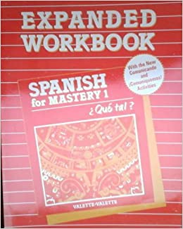 McDougal Littell Spanish for Mastery: Comunicado Workbook Level 1 (Spanish Edition)