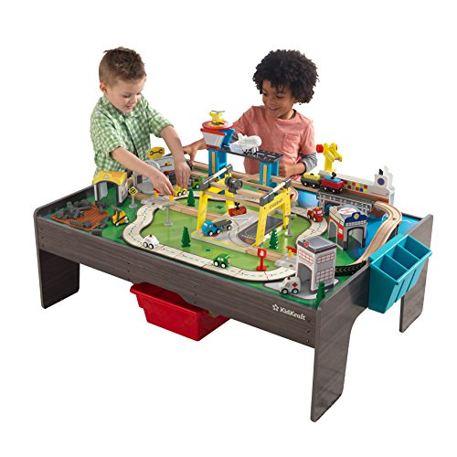 KidKraft My Own City Vehicle and Reversible Activity Table 120+ Pieces -