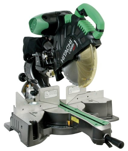 Factory-Reconditioned: Hitachi C12RSH 15 Amp 12-Inch Sliding Compound Miter Saw with Laser