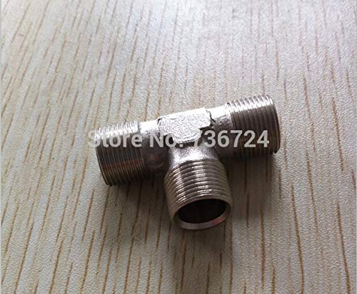 0.375' Brass Tee - Fevas 3/8' Thread Male tee Copper Pipe Fittings,Brass Pneumatic Pipe Fitting Brass Threaded Copper Fitting