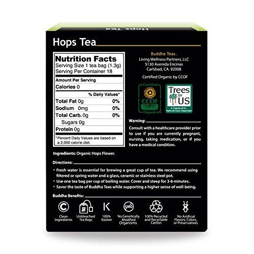 Review Organic Hops Tea –