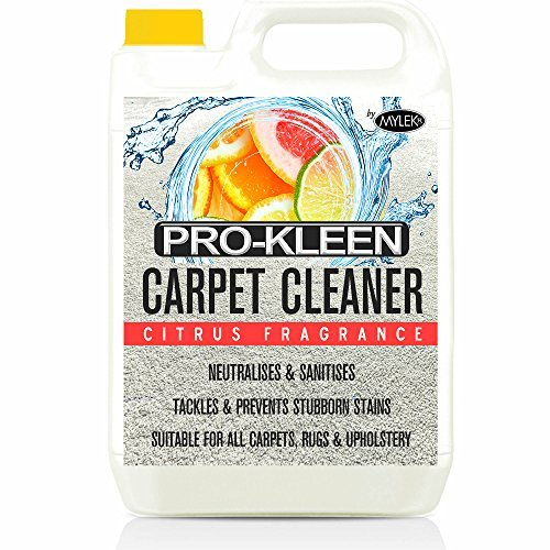Mylek Citrus 5 Litres Carpet & Upholstery Shampoo Professional High Extraction Concentrate (Works With All Machines) by Pro-Kleen by Pro-Kleen