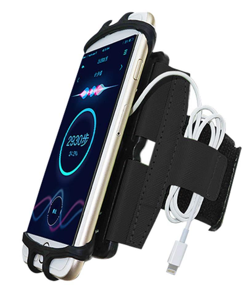 CWXDIAN Sac téléphone Portable Bras Sac téléphone Portable Bracelet téléphone Portable extérieur Sac téléphone Portable Bras, Bleu, Bracelet