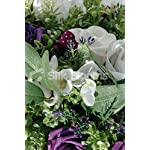 White-Purple-Rose-Freesia-Wedding-TopTable-Display-w-Crystals