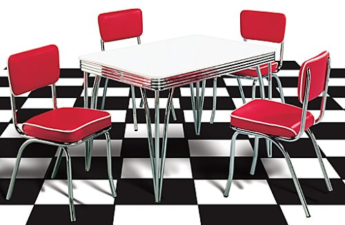 Hervorragend Amazon.de: American Shop   US Tisch Diner, Tischplatte Weiß