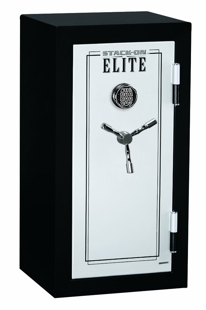 Stack-On E-040-SB-E Elite Junior Executive Fire Safe with Electronic Lock, 3 shelves, Matte Black/Silver by Stack-On