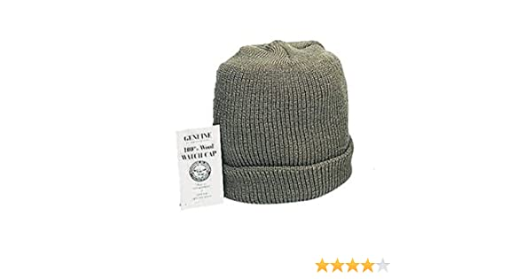 8328011f8cf Amazon.com  OLIVE DRAB GREEN Genuine G.I. GI US Military Army Navy Marines  USMC Soldier Wool Watch Skull Winter Cap Hat Beanie MADE IN USA  Other  Products  ...