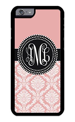 Custom Phone Case iPhone 7 Plus, iPhone 8 Plus Case iZERCASE Monogram Personalized Damask Colorful Multi-Colored Pattern for Apple iPhone 7 Plus, iPhone 8 Plus (Rose Gold)