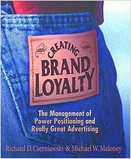 Creating brand loyalty richard d czerniawski michael w maloney creating brand loyalty richard d czerniawski michael w maloney 9781587768149 amazon books fandeluxe Choice Image