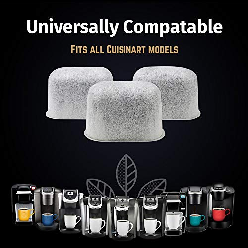12 Pack Compatible Cuisinarts Charcoal Water Filters Universal Fit By iPartsPlusMore