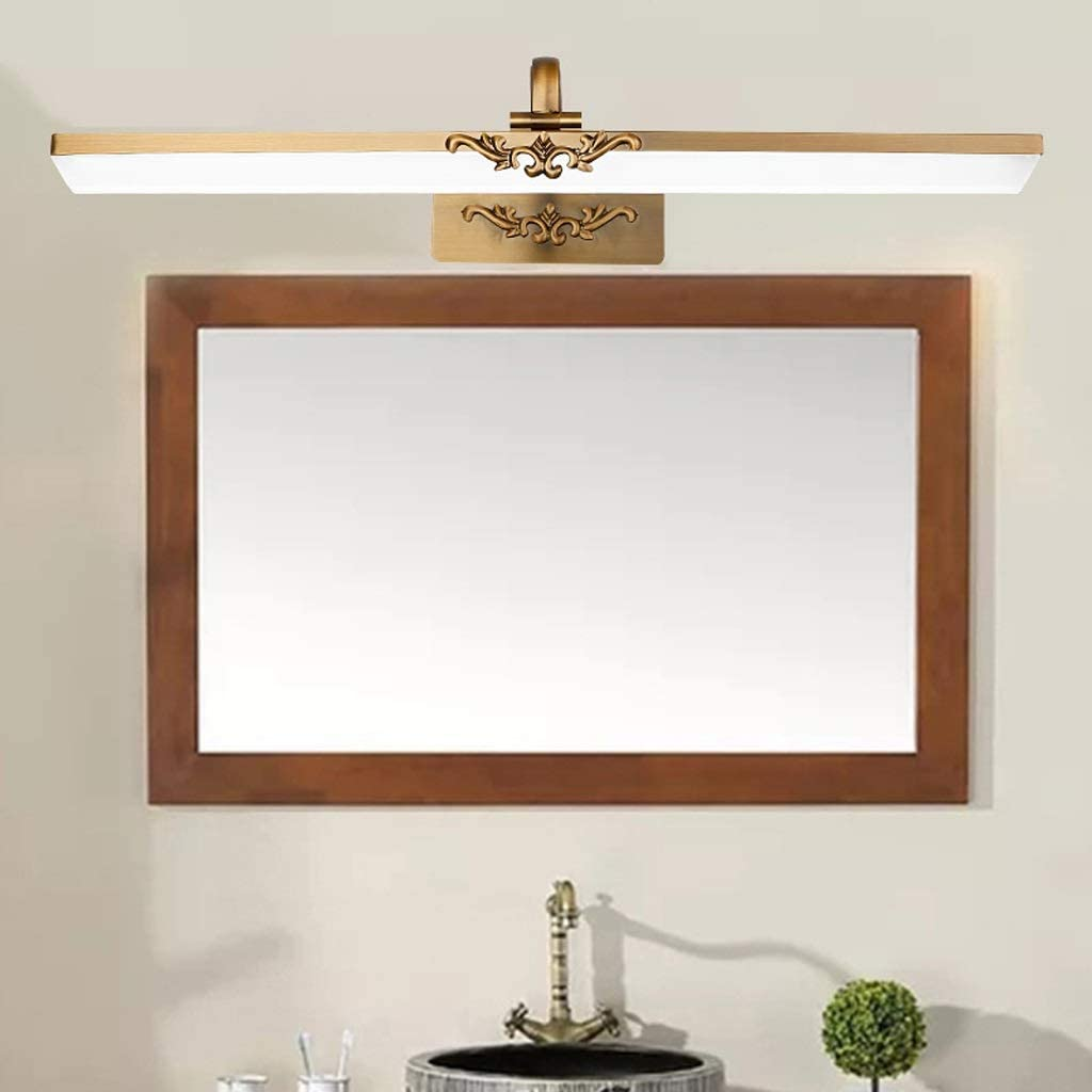 ,Spiegelleuchte LED Spiegel Scheinwerfer Bad Bad Bronze Spiegel European Mirror Cabinet Acryl Spiegel Scheinwerfer .Spiegellicht (Edition : Neutral light-71cm) Warm Light-41cm