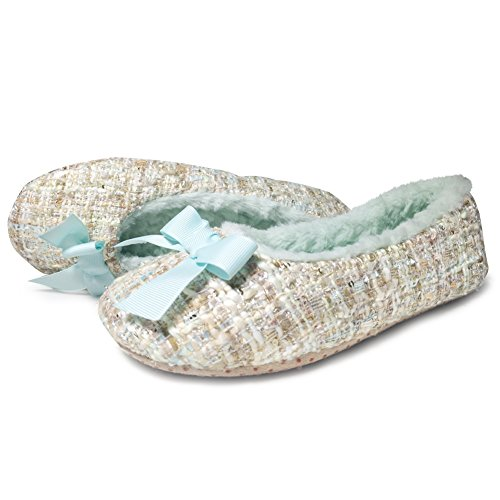 Cior Fantiny Womens Pantofole Comode Ballerina Suola Morbida Vellutata Eleganti Scarpe Da Interni Beige02