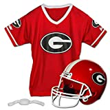 Franklin Sports Georgia Bulldogs Kids College Football Uniform Set - NCAA Youth Football Uniform Costume - Helmet, Jersey, Chinstrap Set - Youth M
