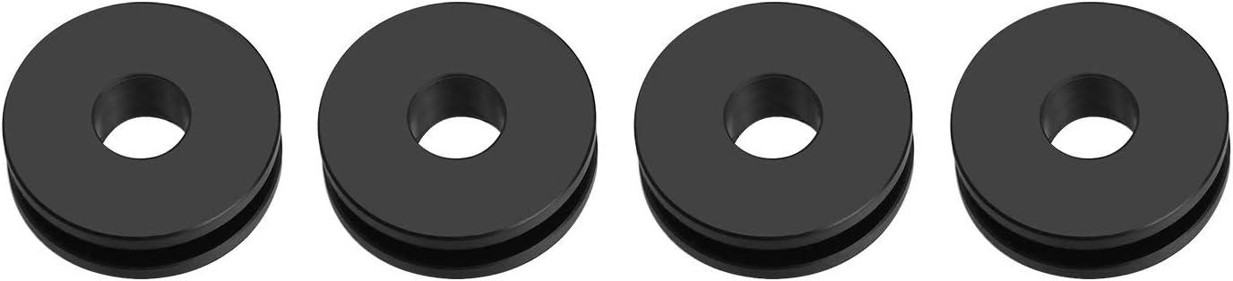 Black MonkeyJack Detachable Windshield Replacement Bushing Grommets for Harley Road King Softail