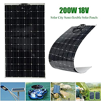 MAN Elfeland EL-09 200W 18V A-Class Semi Flexible Solar Panel Off Grid with 1.5m Cable for Home RV Boat