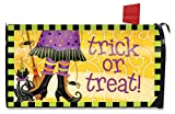 Trick or Treat Witch Halloween Mailbox Cover Black Cat...
