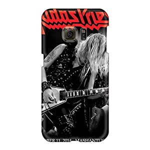 AlissaDubois Samsung Galaxy S6 Shock Absorbent Cell-phone Hard Covers Provide Private Custom Stylish Judas Priest Band Image [lOl18229HiVm]