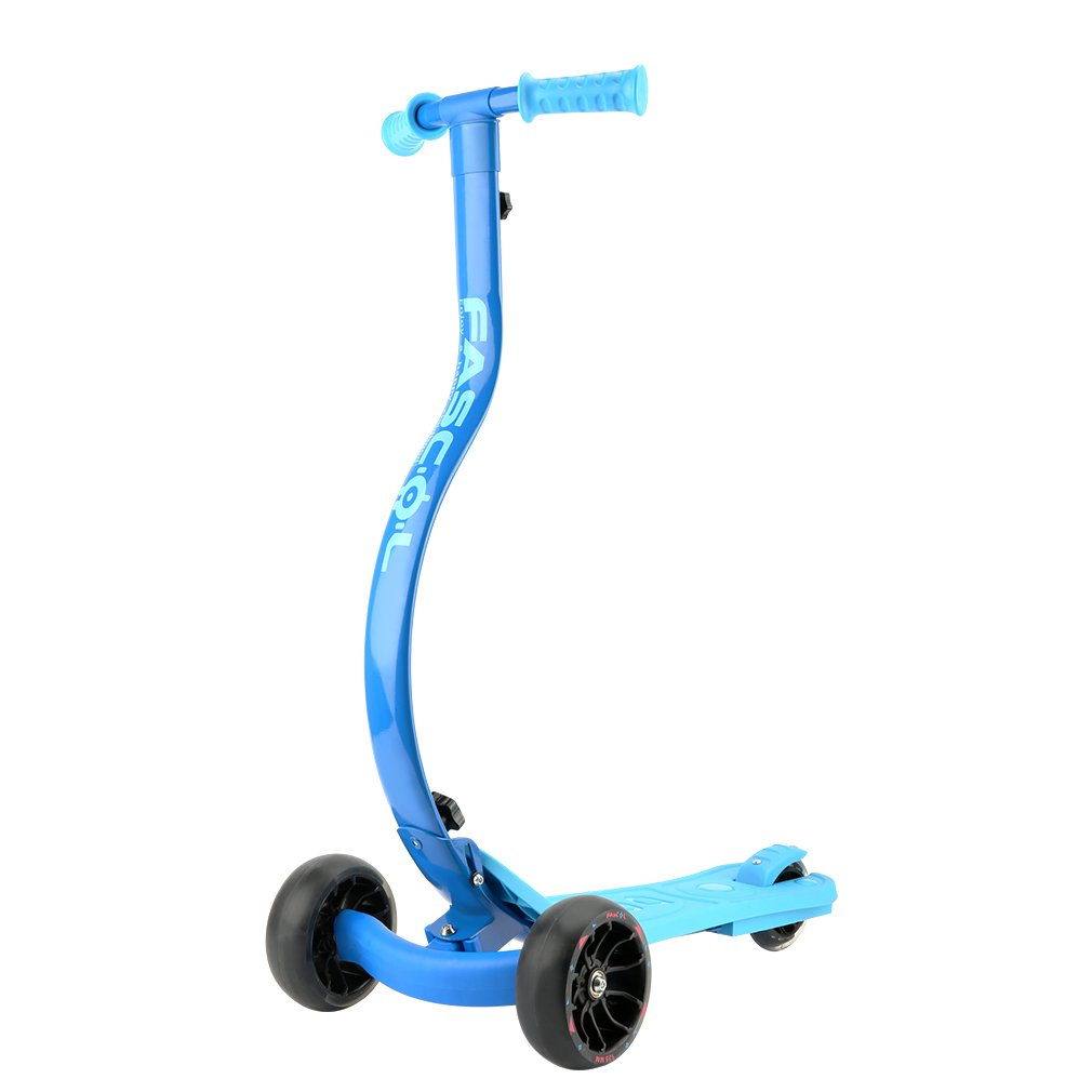 Fascol 3 Wheel Folding Scooter for 3 to 12 years old Children C-Shape Design and Flashing Wheels Maximum Load 60 kg