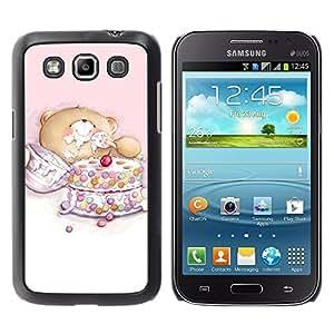 LECELL -- Funda protectora / Cubierta / Piel For Samsung Galaxy Win I8550 I8552 Grand Quattro -- Cute Bear Cake --