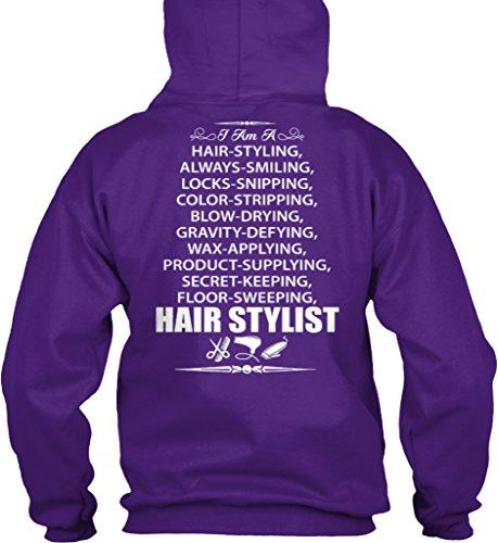 Teespring Unisex Hair Stylist Gildan 8oz Heavy Blend Hoodie XXXX-Large Purple (Saloon Girl Hairstyles)