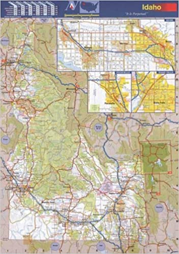 36x50 Idaho State Official Executive Laminated Wall Map: ID Dept of ...