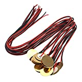 difcuyg5Ozw 12Pcs Guitar Amplifiers Pickups Piezo Disc Elements with Leads Luthier Tool Music Instrument Accessories Red