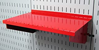 product image for Wall Control Pegboard Shelf 9in Deep Pegboard Shelf Assembly for Wall Control Pegboard and Slotted Tool Board – Red
