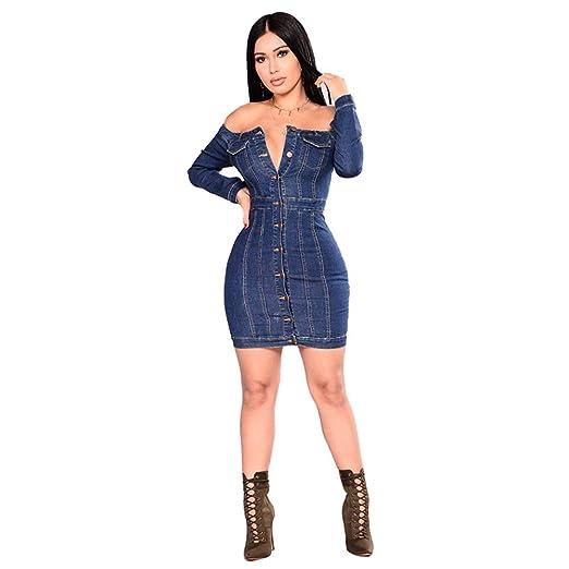 Vestido Sexy de Las señoras Vestido Ajustado con Escote en V de ...