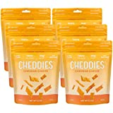 Cheap Cheddies Cheddar Crackers, NEW ITEM, High Protein, All Natural, Low Sugar, Healthy Snack (Pack of 6)