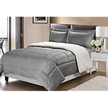 ultra bedding chic bath sherpa kaiser micro comforter piece set plush black mink home product