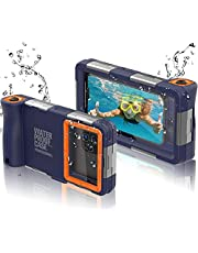 Waterpoof Phone Case, Diving Phone Case for iPhone Samsung Galaxy Google LG Series, Underwater Professional 50ft Outdoor Surfing Swimming Snorkeling Photo Video with Lanyard [2nd Generation], Orange