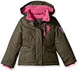US Polo Association Little Girls' Outerwear Jacket (More Styles Available), Parka-UA88-Olive Night, 6X