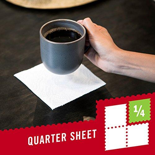 Brawny Tear-A-Square Paper Towels, 12 Rolls, 12 = 24 Regular Rolls, 3 Sheet Size Options, Quarter Size Sheets by Brawny (Image #8)
