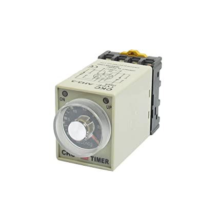 uxcell DC 12V 0-30Seconds Power On Delay Timer Relay DPDT AH3-3 w Base  Socket