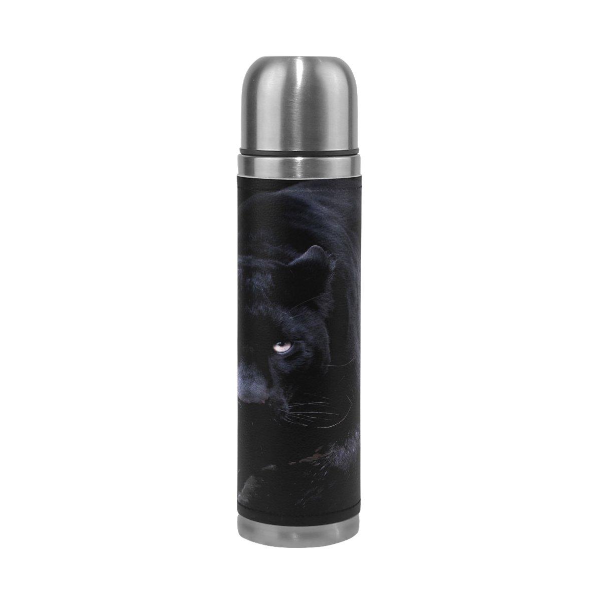 春先取りの feihuangかわいい子犬ステンレススチールleak-proof真空断熱フラスコポットスポーツ二重壁水ボトルレザーThermo Jug Black Jug B07CY1PJHT Black Panther B07CY1PJHT, ニッシンシ:c115f0d0 --- vezam.lt