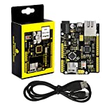 KEYESTUDIO W5500 Ethernet Development Board(Without Poe)+USB Cable for Arduino Controller R3+W5500 Ethernet