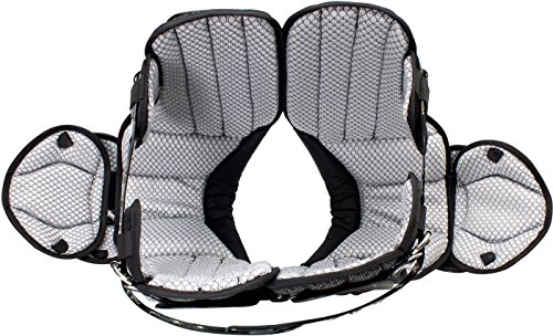 Schutt Sports Varsity Flex 4.0 Skill Football Shoulder Pads, Black, Large